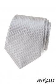 Szary krawat z pikowanym wzorem