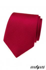 Czerwony krawat z pikowanym wzorem