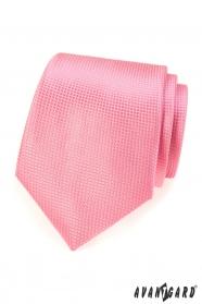 Różowy krawat dla mężczyzn