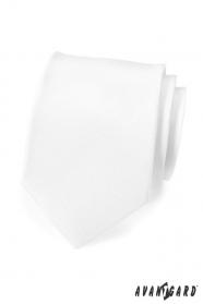 Biały, matowy krawat