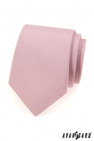 Krawat w kolorze pudrowo-matowym