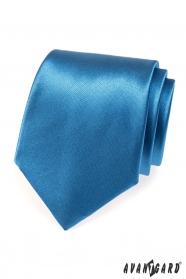 Błyszczący krawat AVANTGARD niebieski