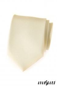 Matowy kremowy krawat Avantgard