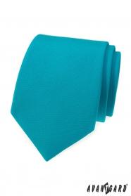 Turkusowy, matowy krawat Avantgard