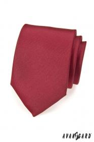 Gładki krawat w kolorze bordowym matowy