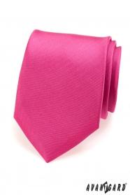 Męski krawat w kolorze fuksji matowym