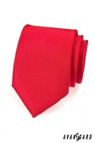 Czerwony, matowy krawat męski