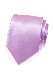 Jasny krawat w odcieniach bzu