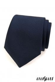 Niebieski matowy krawat dla mężczyzn