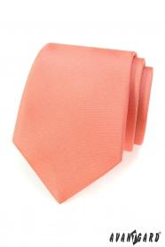 Krawat matowy w kolorze łososiowym