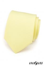 Miękki żółty matowy krawat