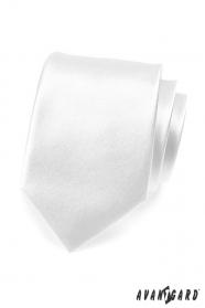 Prosty gładki biały krawat męski