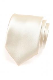 Błyszczący krawat w kremowym kolorze