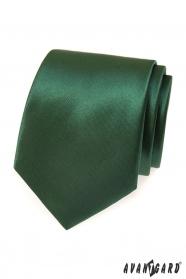 Ciemnozielony męski krawat