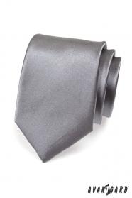 Krawat męski grafitowy gładki