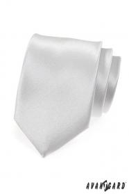 Gładki srebrny krawat