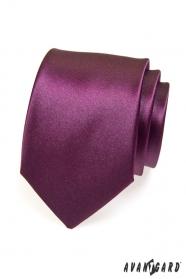 Krawat dla panów w kolorze oberżyny