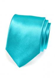 Klasyczny turkusowy męski krawat