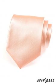 Klasyczny męski krawat w kolorze łososia