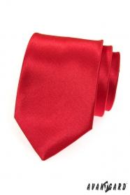 Krawat męski czerwony gładki
