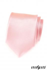 Różowy krawat męski