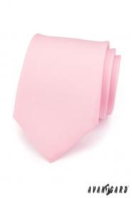 Krawat męski różowy mat