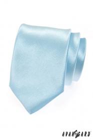 Krawat męski jasnoniebieski połysk