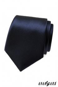 Krawat ciemnoniebieski połysk