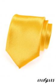 Męski żółty krawat z połyskiem