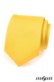 Krawat AVANTGARD matowo żółty
