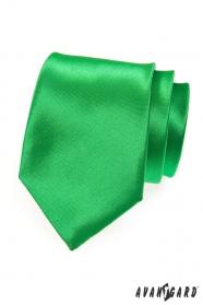 Krawat męski w kolorze bogatej zieleni