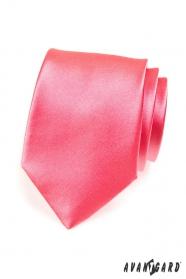 Męski krawat w ciemniejszym różu