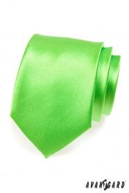 Krawat męski zielony połysk