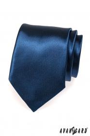 Ciemnoniebieski krawat błyszczący