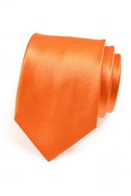 Pomarańczowy krawat męski