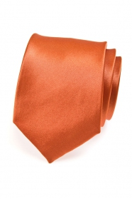 Ceglany pomarańczowy krawat