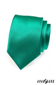 Krawat męski ciemnozielony