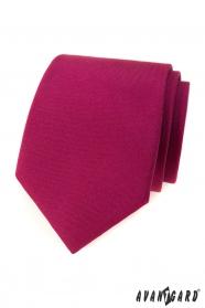 Krawat w matowym kolorze bordowym