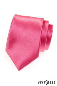 Krawat męski ciemnoróżowy