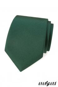 Ciemnozielony matowy krawat