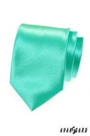Błyszczący miętowy zielony krawat