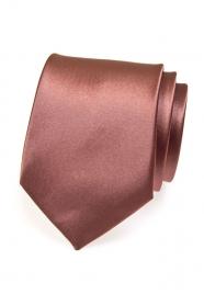 Kravata jednobarevná hnědá s leskem