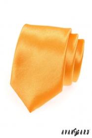 Elegancki męski złoty krawat