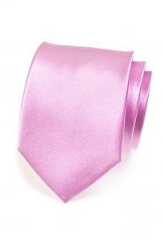 Błyszczący liliowy krawat
