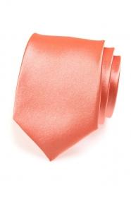 Krawat męski w kolorze koralowym