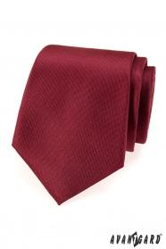 Monochromatyczny krawat w kolorze bordowym