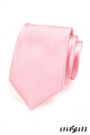 Krawat męski różowy połysk