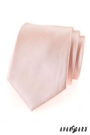 Krawat męski w kolorze łososiowym