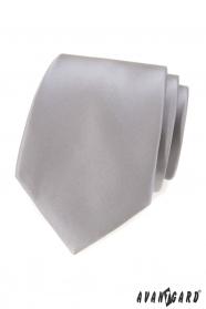 Szary klasyczny męski krawat