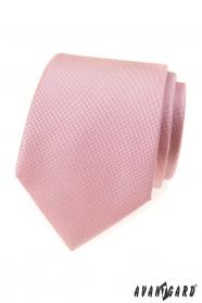 Strukturalny krawat w kolorze pudrowego różu